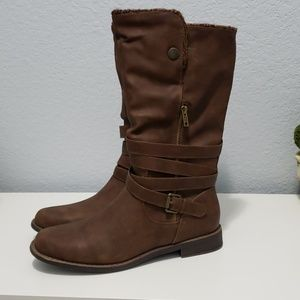 Brown boots from justfab